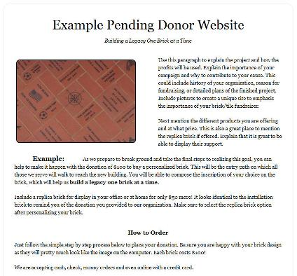donor website example